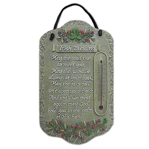 Trendy Decor4U Welcome Sign, Irish Blessing Porch Decor Resin Slate Plaque, 7.75 Inch x 13 Inch