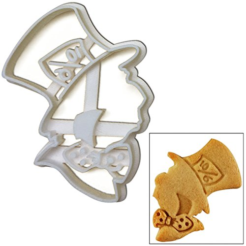 """Mad Hatter Cookie Cutter, 1 pc, Inspired by """"Alice's Adventures in Wonderland"""" novel by Lewis Carroll, Great for mad tea party"""