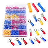 Soosee 1200Pcs Insulated Wiring Terminals Wire Connectors Assortment Electrical Crimp Terminals Kit