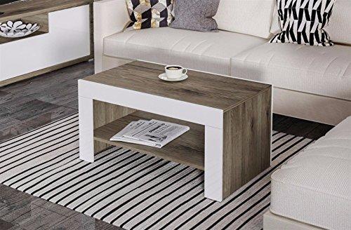 Endo Couchtisch Viena Wohnzimmertisch Tisch 100cm Ablage Zweifarbig