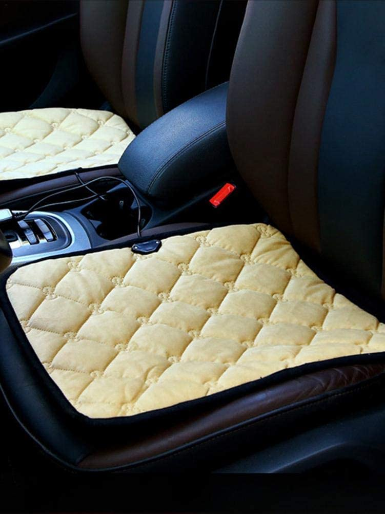 Car Accessories Cover All-Season Use Pretty Way Car Seat Cover Protector Cushion Warmer Portable Breathable Seat Pads for Car Home Office Chair LEEaccessory Car Seat Heated Cover Cushion