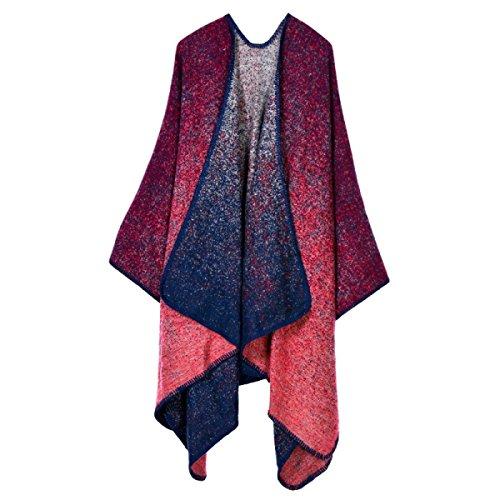 Bufanda Mujer Invierno Engrosamiento De La Cuadrícula Mantón De La Bufanda Red