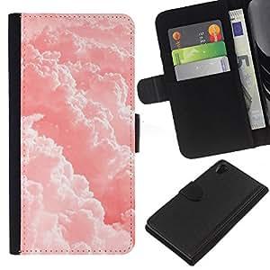 EJOY---La carpeta del tirón la caja de cuero de alta calidad de la PU Caso protector / Sony Xperia Z2 D6502 / --Nubes Cielo Sol Cielo
