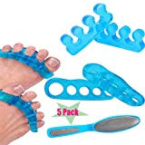 Premium Gel Toe Separators, Spacers & Straighteners | Bunion Corrector Relief on Hammor Toe - Correct Toes to Their Natural Shape | Used for Pedicure, Yoga & Running