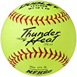 Dudley Nfhs Thunder Heat Fast Pitch Leather Softball 12 Ball Pack