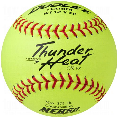 Dudley Nfhs Thunder Heat Fast Pitch Leather Softball 12 Ball Pack by Dudley