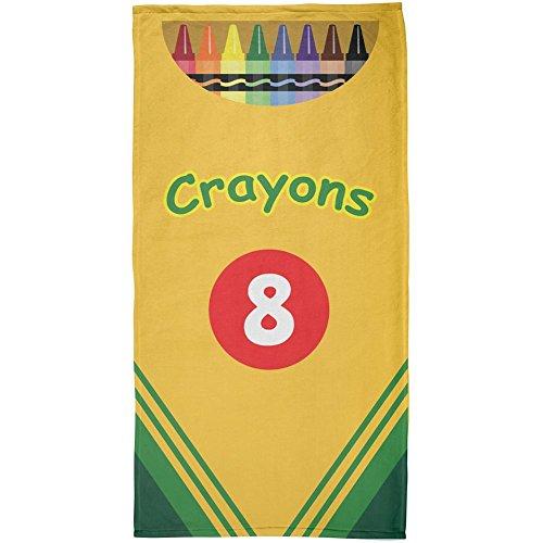 Fun Crayon Box All Over Beach Towel Multi Standard One Size