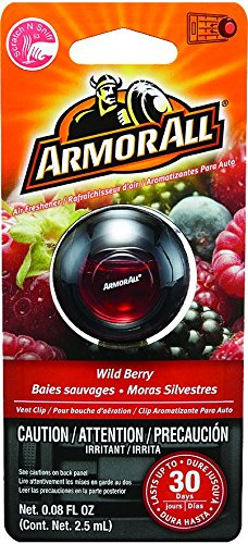 Armor All 17807 Air Freshener, Wild Berry Scent, Vent Clip, 1