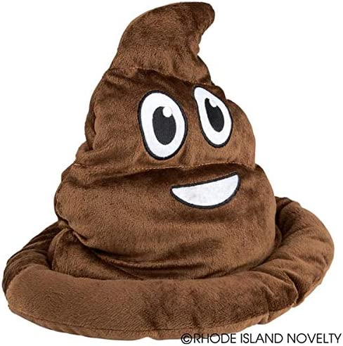 Rhode Island Novelty Brown Emoticon Poop Hat 1 Per Order
