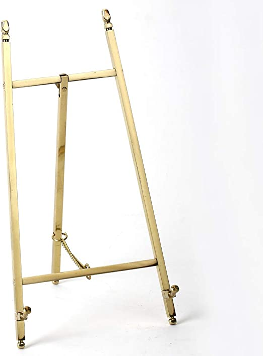 malleable Table Top Easel,Brass Plate Stands for Display,10 Inch,250MM 10 Inch