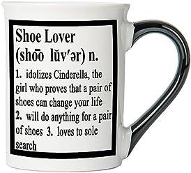 Shoe Lover Mug, Shoe Lover Coffee Cup, Ceramic Shoe Lover Mug, Custom Shoe Lover Gifts By Tumbleweed