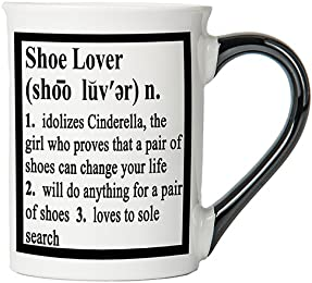 Shoe Lover Mug, Shoe Lover Coffee Cup, Ceramic Shoe Lover Mug, Custom Shoe Lover Gifts By Tumbleweed