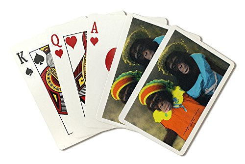 St. Louis, Missouri - Forest Park Zoo Chimpanzees in Costume (Playing Card Deck - 52 Card Poker Size with -