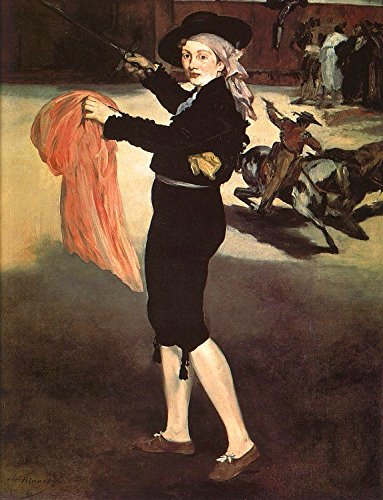Manet Edouard Mlle Victorine in the Costume of an Espada 100% Hand Painted Replica Oil Paintings 20X28 ()
