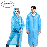 WANPOOL Unisex Disposable Waterproof Raincoat Rain Poncho with Hood for Adults 2