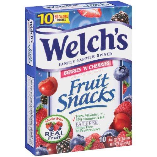 Welch's Fruit Snacks Berries N Cherries, 9 -