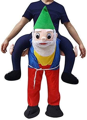 Christmas Elf Funny Piggyback, Ride-on Shoulder, Carry Me Costume for Adults, One Size