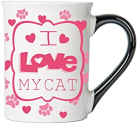 I Love My Cat Mug, Cat Mug, Gifts for Cat Lovers, Pet Coffee Cup, Ceramic Mug, Pet Gifts By Tumbleweed