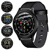 Fitness Tracker Sports Smart Watch for Men Women with Heart Rate Blood Pressure Sleep Monitor IP68 Waterproof Activity Tracker Calorie Pedometer Counter Bluetooth Smartwatch for Android iOS Huawei