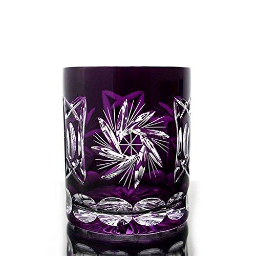 Whiskey glass ''Schleuderstern'' (280ml) violett, lead crystal, modern style, glass (CRISTALICA KINGDOM powered by CRISTALICA)