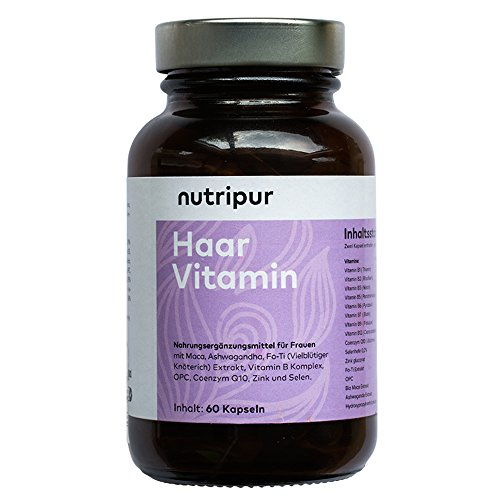 Jetzt neu - Nutripur Haar Vitamin - Haarwuchs, Haarwachstum, Haarausfall (60 Tabletten)