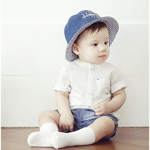 886583e035f1 Matériaux en coton de haute qualité, le chapeau est léger ,confortable .  Le tour est 48cm, convient pour les bébés de 6-18 mois.