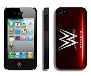 Fashion And Unique iPhone 4 Case Designed With WWE Network Black iPhone 4 Cover