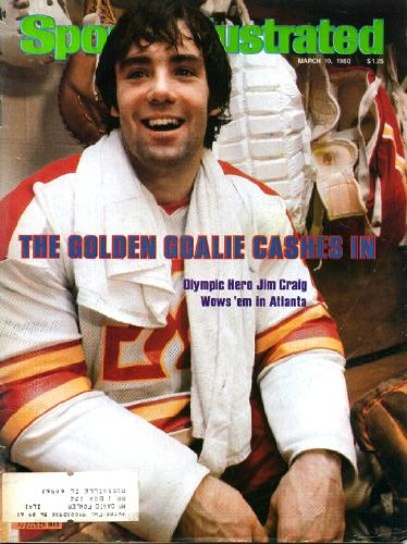 - Sports Illustrated March 10 1980 Jim Craig/US Olympic Hockey Team on Cover, Jim Craig Joins Atlanta Flames, Mike Woodson/Indiana University Hoosiers, Billy Martin/Oakland A's, Minnesota Fillies/WBL (pre-WNBA)