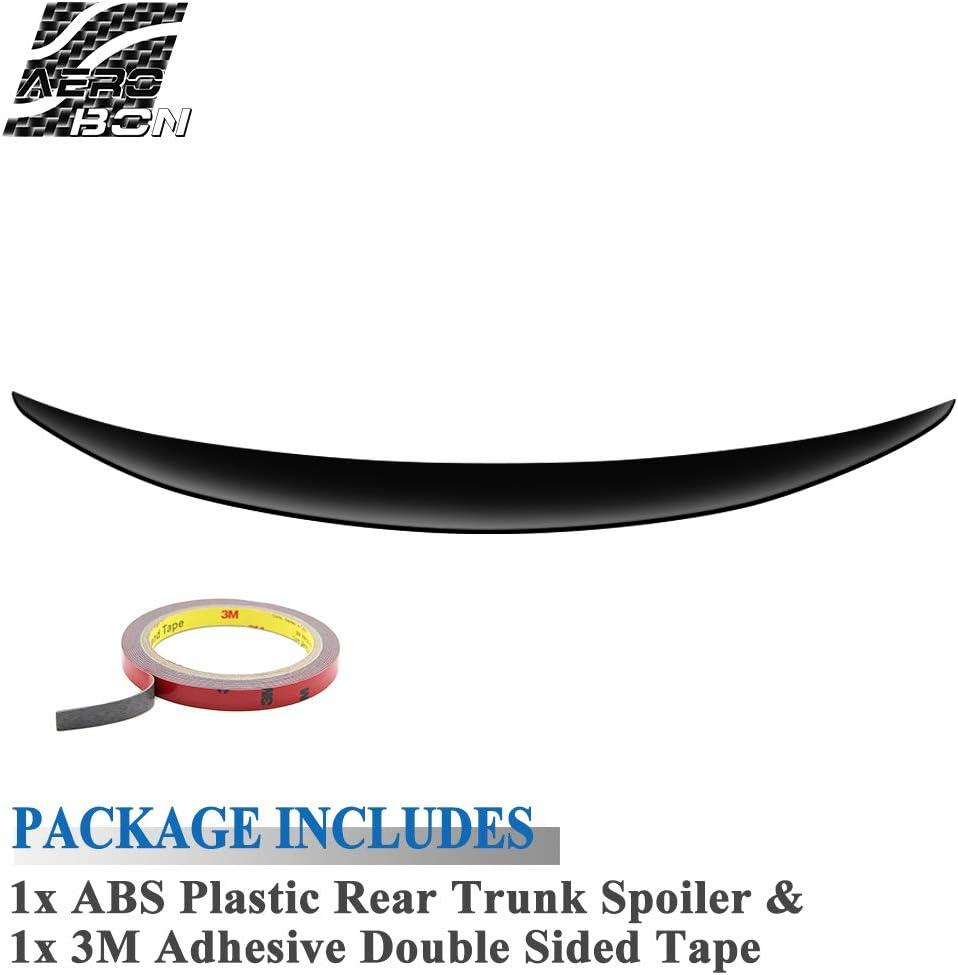 Performance Style AeroBon Schwarz Lackierter ABS Heckspoiler Spoiler Kompatibel mit 2005-12 E90 3er /& M3 Limousine
