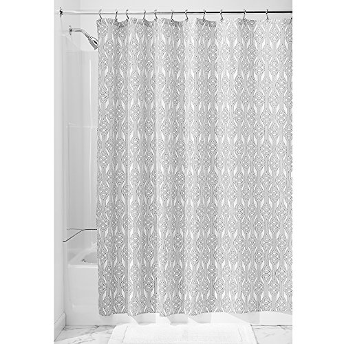 interdesign vivian fabric shower curtain blackwhite