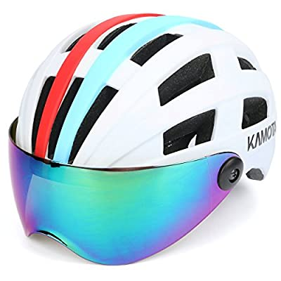 Bike Helmet, KAMOTA Bicycle Cycling Adult Helmet with Shield Visor Adjustable Size Lightweight Safety for Hiking Sports Climbing Outdoor