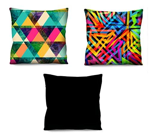 Conjunto de almofadas Coloridas 3 Peças 42x42