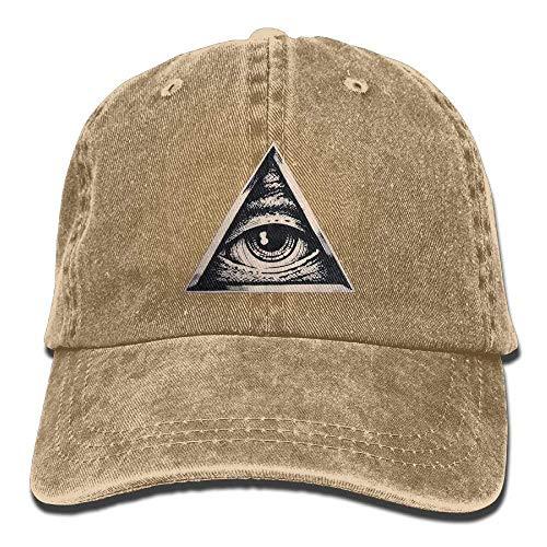 Sport Men Triangle Skull All Women for Cowboy Eye Cowgirl Seeing DEFFWB Cap Hats Denim Hat qvxfwYO