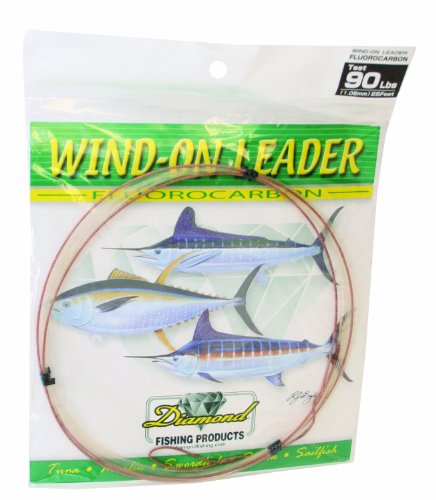 Momoi Fluorocarbon Wind-On Leader, Clear, 25-Feet/130-Pound