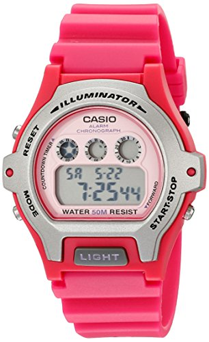 Casio Women's LW-202H-4AVCF Illuminator Pink Resin Watch