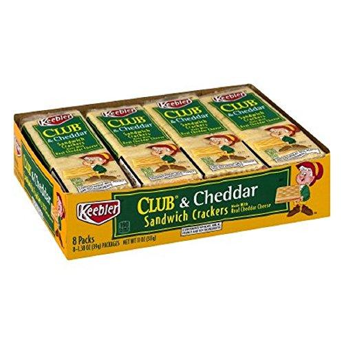 Keebler Sandwich Crackers Club & Cheddar - 8 PK, 1.38 OZ by Keebler