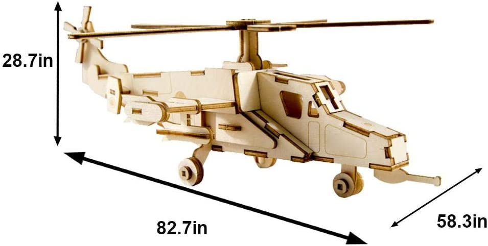 Kits de Modelos de Aviones de Madera 3d Rompecabezas de Madera Diy Aviones Ensamblados Modelo de Ensamblaje Educativo Juguetes de Construcci/ón de Aviones Regalos Para Adultos Ni/ños