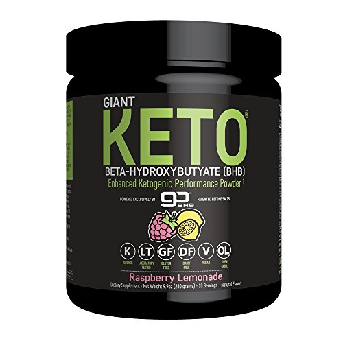 Giant Keto-Exogenous Ketones Supplement – Beta-Hydroxybutyrate Keto Powder Designed to Support Your Ketogenic Diet, Boost Energy and Burn Fat in Ketosis – Raspberry Lemonade – 10 servings