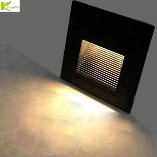 86 tipo LED escalera de pasillo con luz de pie blanco empotrado blanco cálido luz de