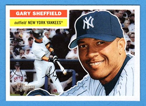 fan products of Gary Sheffield 2005 Topps Heritage with Classic 1956 Topps Design