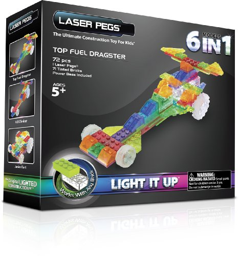 Laser Pegs 6-in-1 Dragster Building Set