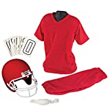Best Franklin Sports Costumes - Franklin Sports Youth Football Uniform Set, Medium, Red Review