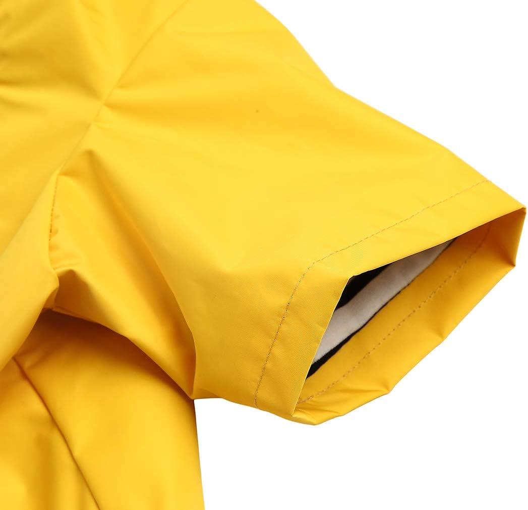 Adjustable Drawstring Dog Raincoats Size XS to XXL Available 0609 Pocket Design Rain//Water Resistant Morezi Zip Up Dog Raincoat with Hood