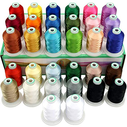 Lowest Prices! New brothread 32 Spools Polyester Embroidery Machine Thread Kit 1000M (1100Y) Each Sp...