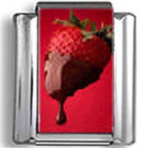 (Chocolate covered Strawberry Photo Italian Charm)