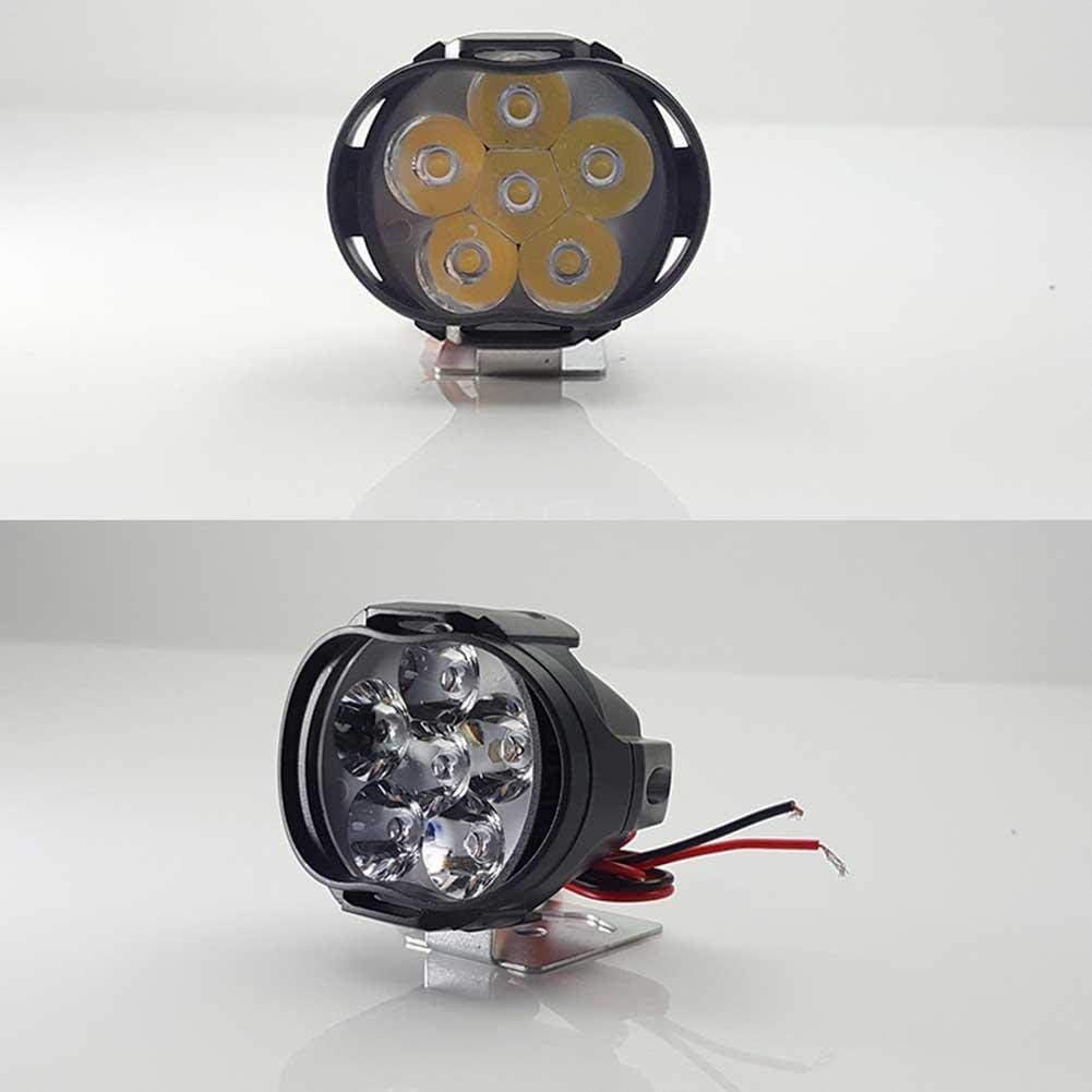2pcs Phare Moto Feux Additionnels LED Phares Avant Moto Anti Brouillard Projecteur Spot LED Moto 160LM Etanche pour V/éhicules Motos V/élos Voitures Camions Bateau Scooter