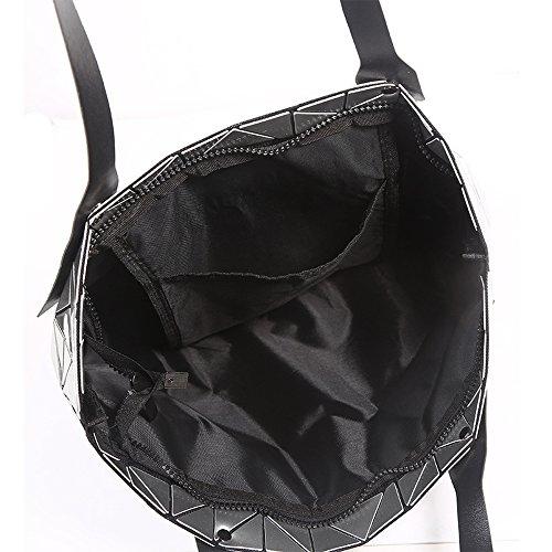 Top Nera Donna manico Morbida Bag Pieghevole Pelle Di Tote Tracolla Casuale Grande Capacità wS7S8nRqUO