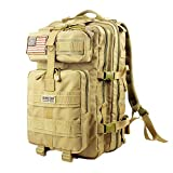 Tactical Backpack - Seibertron Falcon Water Repellent Hiking Camping Backpack Compact Pack Summit Bag Khaki 37L