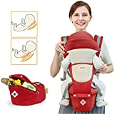 Baby Carrier Soft Sling All Carry with Hip Seat 360 Positions Award-Winning Ergonomic Child and Newborn Seats (RED)