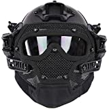 WoSporT New Airsoft and Paintball Tactical Protective Fast Helmet I & ABS Tactical Mask with Goggle for Airsoft Paintball WarGame